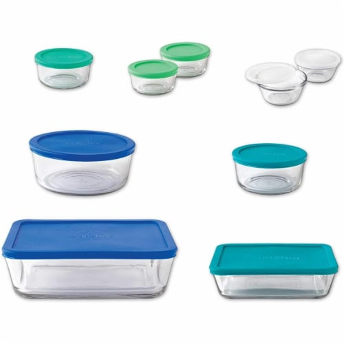 Anchor Hocking Food Storage Set, Multi Color - 20 Piece Perspective: front
