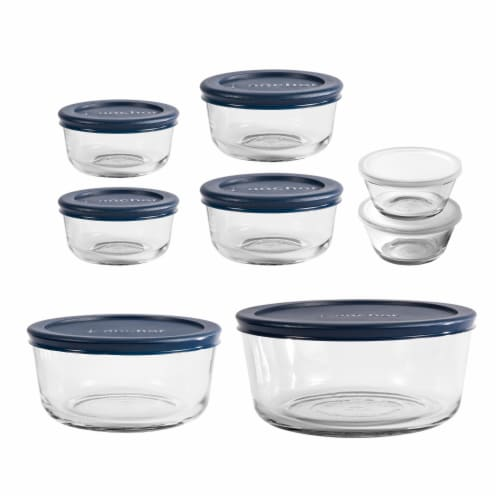 Anchor Hocking Round Food Storage Set - Red Perspective: front