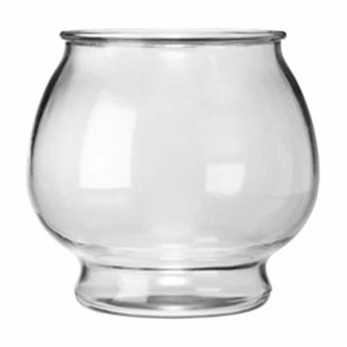 Anchor Hocking Glass Footed Fish Bowl Perspective: front
