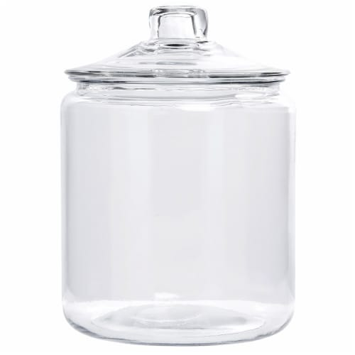 Anchor Hocking Glass Heritage Hill Jar - Clear Perspective: front