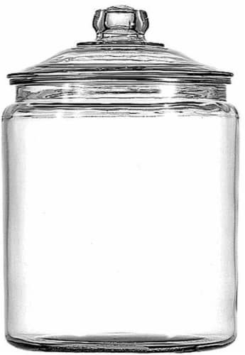 Anchor Hocking Heritage Hill Glass Jar - Clear Perspective: front