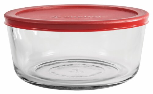 Anchor Hocking Round Kitchen Storage Container - 4 Pack Perspective: front