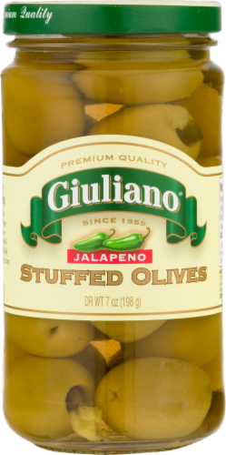 Giuliano Jalapeno Stuffed Olives Perspective: front