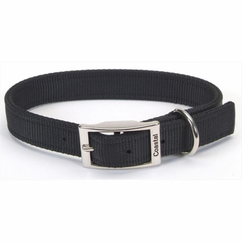 Coastal Pet Products 764540 1X22 Double Ply Nylon Collar Black Perspective: front