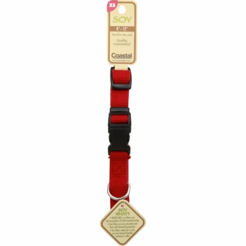 Coastal Dog Collar - Extra Small - Red Perspective: front