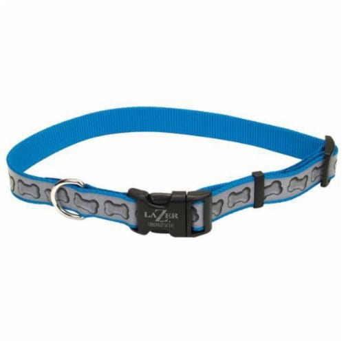 Alliance Reflective Adjustable Collar -Blue Perspective: front