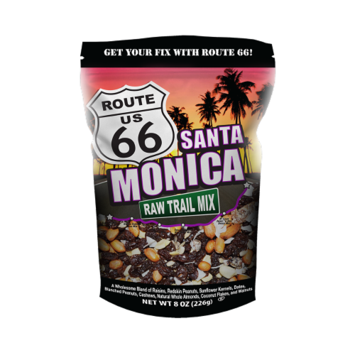 Route 66 Santa Monica Raw Trail Mix Perspective: front