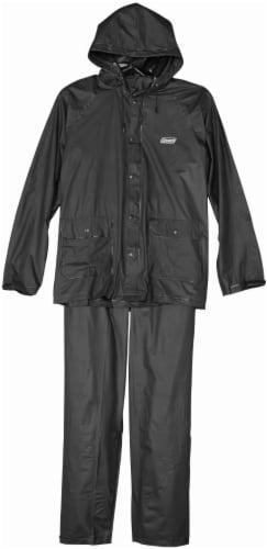Coleman PVC Rain Suit - Black - Medium Perspective: front