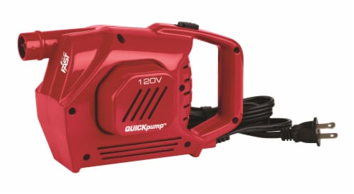 Coleman Quickpump 120V Rechargeable Electric Air Pump - Red Perspective: front