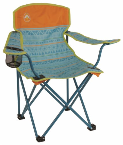 Coleman Kids Chair Quad - Teal Perspective: front