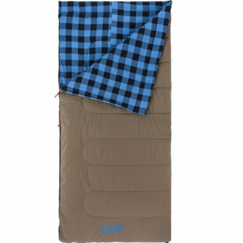 Coleman 2000030261 Coleman Autumn Trails 20 Degree Sleeping Bag - Blue Perspective: front