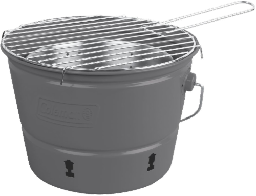 Coleman Party Pail Charcoal Grill - Gray Perspective: front