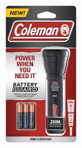 Coleman BatteryGuard 250M Flashlight - Black Perspective: front