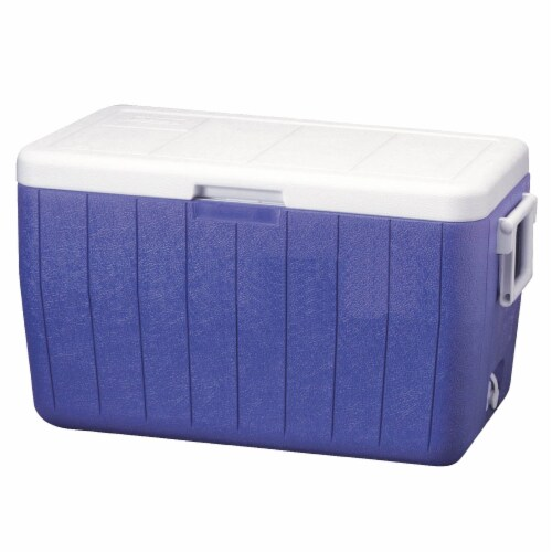 Coleman Chest Cooler - Blue Perspective: front
