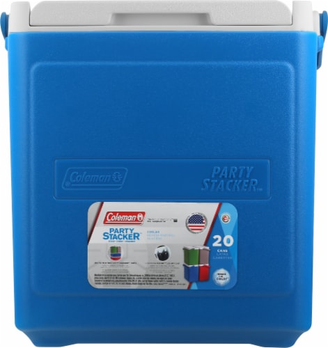 Coleman 20 Can Stacker Cooler - Blue Perspective: front