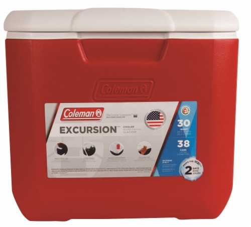 Coleman Performance Cooler - Red Perspective: front