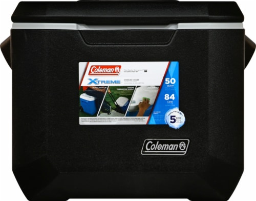 Coleman Xtreme Wheeled Cooler - Black Perspective: front