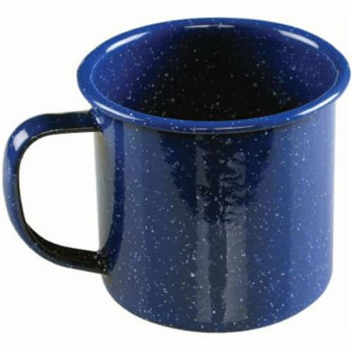 Coleman 10 oz. Enamelware Coffee Mug - Blue, Pack Of 6 Perspective: front