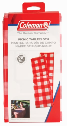 Coleman Vinyl Tablecloth - Red/White Perspective: front