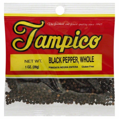 Tampico Black Pepper Whole Perspective: front