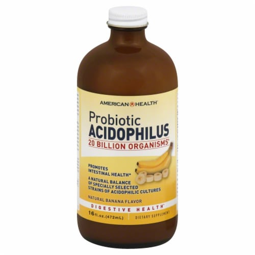 American Health Acidophilus Culture Banan Perspective: front