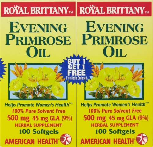 American Health Royal Brittany Evening Primrose Oil Softgels 500 mg Perspective: front