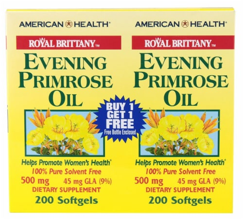 American Health Royal Brittany Evening Primrose Oil Softgels 500mg Perspective: front