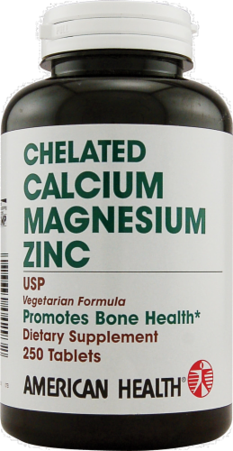 American Health Calcium Magnesium Zinc Perspective: front