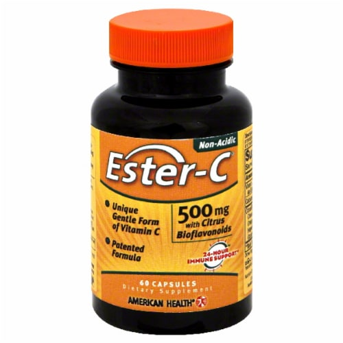 American Health Ester-C Vitamins 500mg 60 Count Perspective: front
