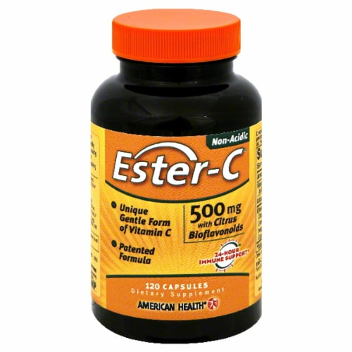 American Health Ester-C Vitamins 500mg Perspective: front