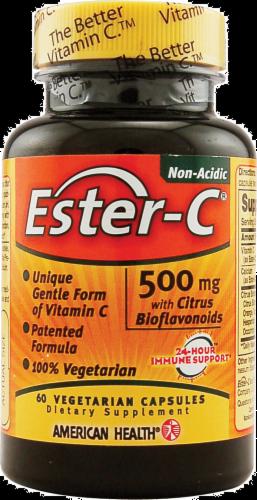 American Health Ester-C 500 mg with Citrus Bioflavonoids Vegetarian Supplement Perspective: front