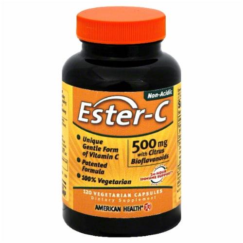 American Health Ester-C Vitamins 500mg Vegitarian Capsules Perspective: front