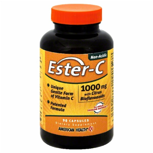 American Health Ester-C Vitamins 1000 mg Perspective: front