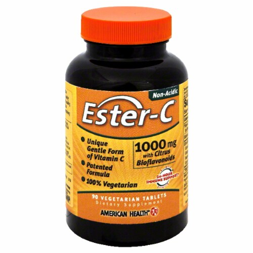 American Health Ester-C Vitamins Tablets 1000 Mg Perspective: front