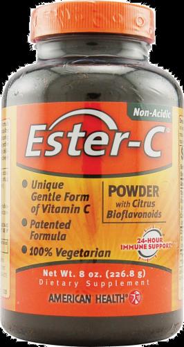 American Health Ester-C Powder with Citrus Bioflavonoids Vegetarian Supplement Perspective: front