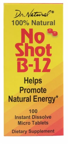 World Organic Dr. Natural® No Shot B-12 Liquid 1000mcg Perspective: front