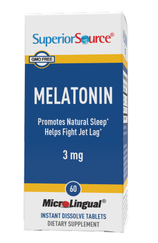 Superior Source Melatonin Dissolving Tablets 3mg Perspective: front