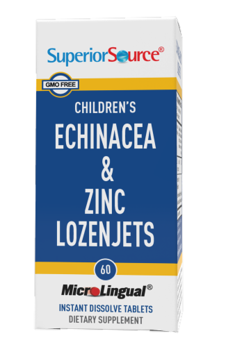 Superior Source Children's Echinacea and Zinc Lozenjets 60 Count Perspective: front