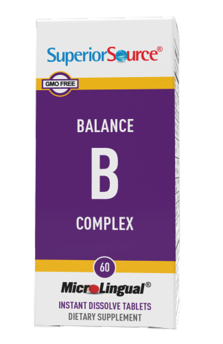 Superior Source Balance B Complex Tablets Perspective: front