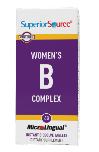 Superior Source Women's B Complex Instant Dissolve Tablets 60 Count Perspective: front