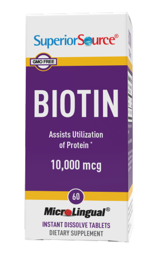 Superior Source Biotin Instant Dissolve Tablets 10000mcg Perspective: front
