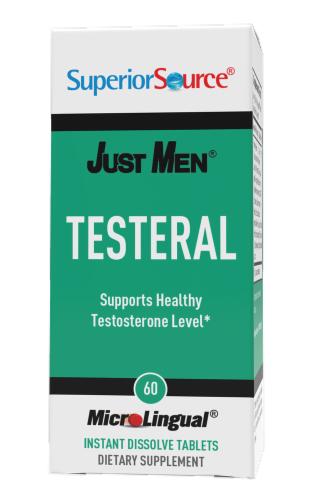 Superior Source Just Men Testeral Instant Dissolve Tablets Perspective: front