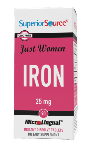 Superior Source Just Women Iron Tablets Perspective: front