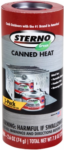 Sterno Outdoor Essentials Canned Cooking Fuel - 3 pk Perspective: front