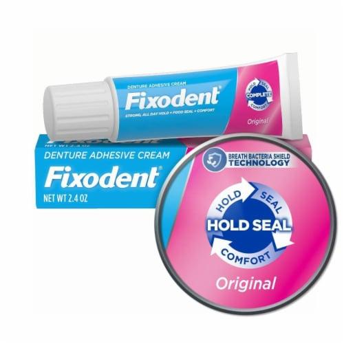 Fixodent Original Denture Adhesive Cream Perspective: front