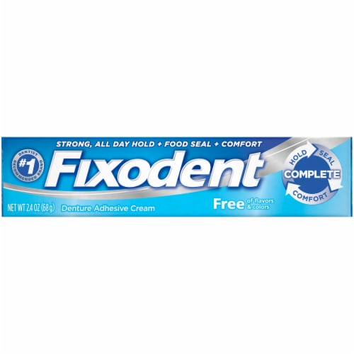 Fixodent Flavor Free Denture Adhesive Cream Perspective: front