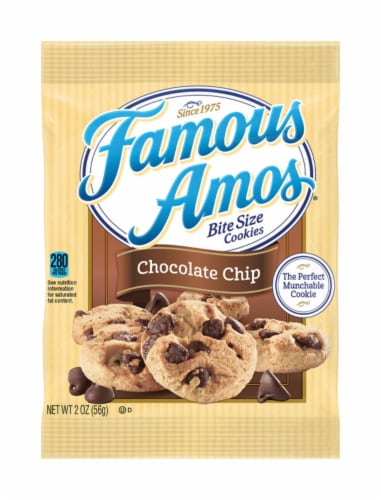 Famous Amos Chocolate Cookies 2 oz. Bagged - Case Of: 8; Perspective: front