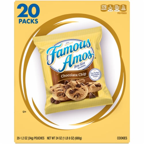 Famous Amos Bite Size Chocolate Chip Cookies Perspective: front