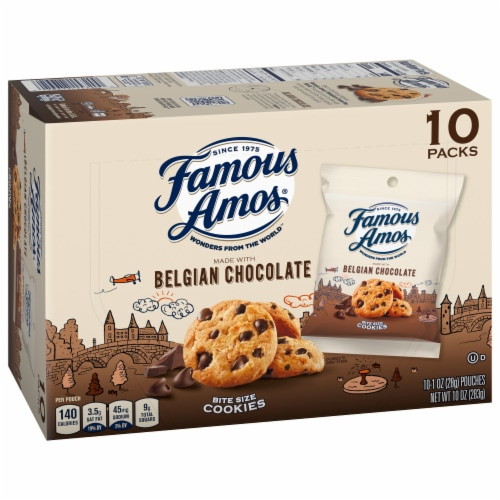 Famous Amos® Bit-Size Chocolate Chip Cookies Perspective: front