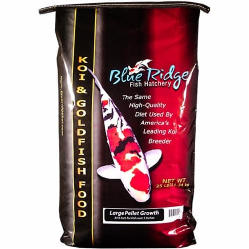 Blue Ridge 10251 Floating Large Pellet Growth Fish Food - 25 lbs Perspective: front